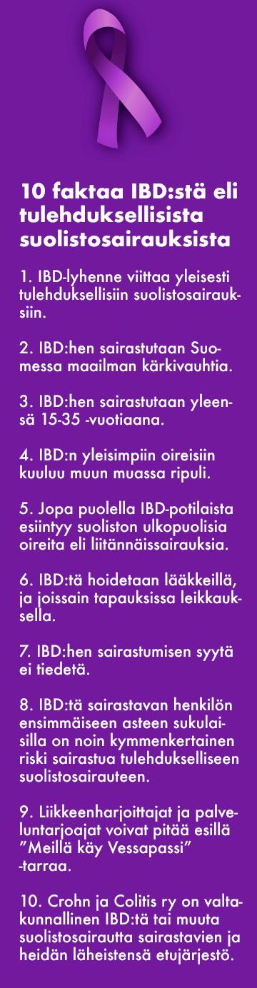 10 faktaa IBD:stä